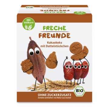 Freche Freunde BIO Kakaové sušenky a kousky datlí 125 g