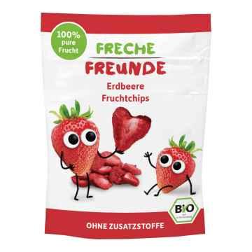 Freche Freunde BIO Ovocné chipsy jahoda 12 g