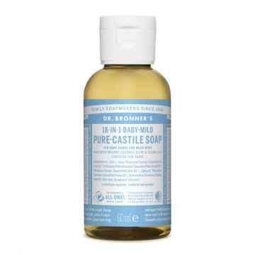Dr. Bronner's Tekuté universální mýdlo ALL-ONE!, Baby-Mild, Poškozeno 60 ml
