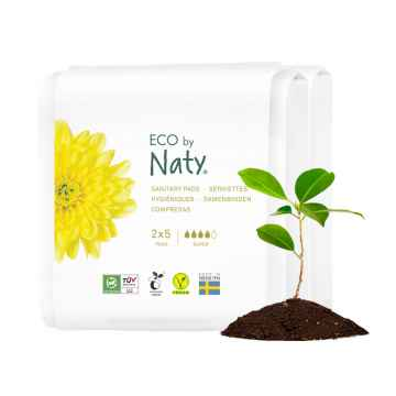 Eco by Naty Dámské vložky super, cestovní balení 2 x 5 ks