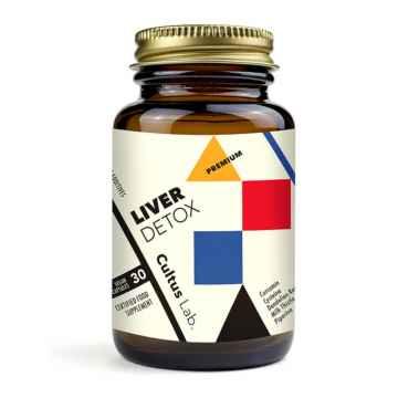 CultusLab Liver detox premium, očista jater, kapsle 30 ks, 26,8 g