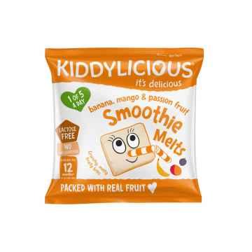 KIDDYLICIOUS Smoothie Melts ovocné polštářky z banánu, manga a marakuji 6 g
