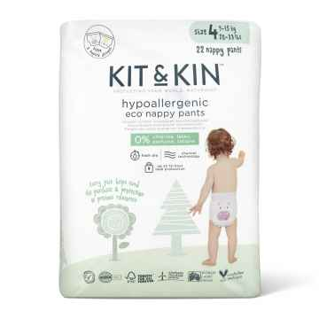 KIT & KIN Naturally Dry Eco plenkové kalhoty vel. 4 (9-15 kg) 22 ks