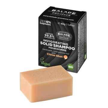 BIO Posilující tuhý šampon pro muže citrus 40 g