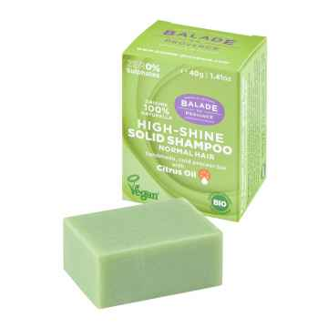 BIO Pečující tuhý šampon pro vysoký lesk citrus 40 g