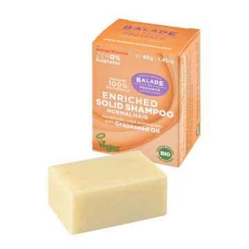 BIO Vyživující tuhý šampon pro normální vlasy pomerančový květ 40 g