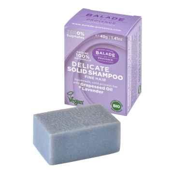 BIO Posilující tuhý šampon pro jemné vlasy levandule 40 g