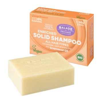 BIO Vyživující tuhý šampon pro normální vlasy pomerančový květ 80 g
