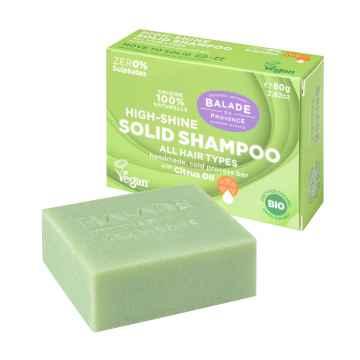 BIO Pečující tuhý šampon pro vysoký lesk citrus 80 g