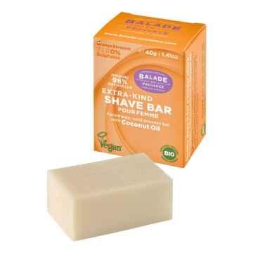 BIO Pečující tuhé mýdlo na holení pro ženy pomerančový květ 40 g