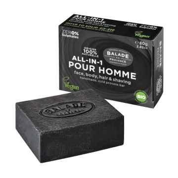BIO Tuhé mýdlo all-in-one pro muže citrus 80 g