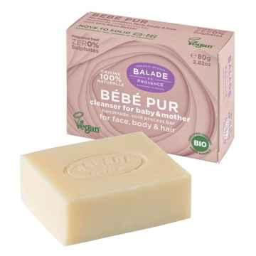 BIO Jemné tuhé mýdlo pro maminky a děti bez parfemace 80 g