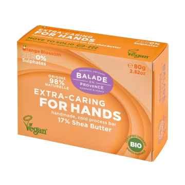 BIO Vyživující tuhé mýdlo na ruce pomerančový květ 80 g