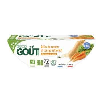 Good Gout BIO Pyré z máslové dýně a mrkve 2 x 190 g