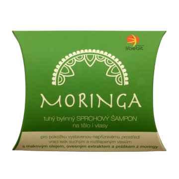 Tuhý bylinný sprchový šampon na tělo i vlasy MORINGA 95 g