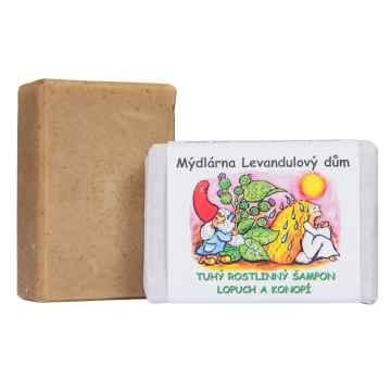 Mýdlárna Levandulový dům Tuhý šampon Lopuch a Konopí 120 g