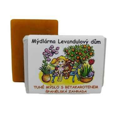 Mýdlárna Levandulový dům Tuhé přírodní mýdlo Španělská zahrada 120 g