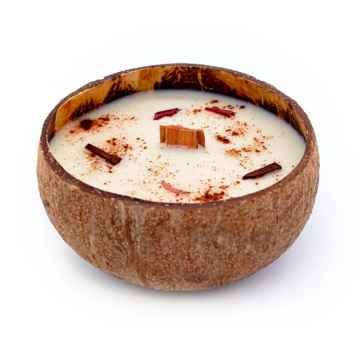 TROPIKALIA Veganská svíčka v kokosu apple & cinnamon 350 ml