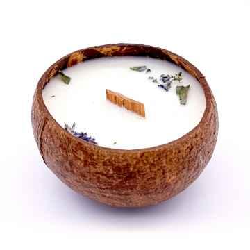 TROPIKALIA Veganská svíčka v kokosu melissa 350 ml
