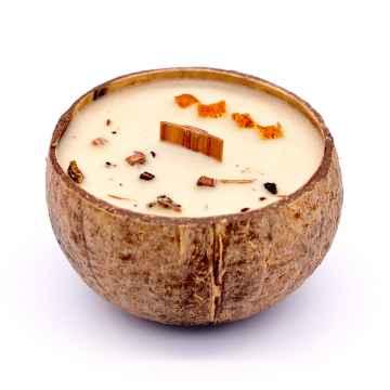 TROPIKALIA Veganská svíčka v kokosu incense & orange 350 ml