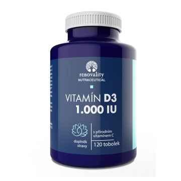Renovality Vitamín D3 120 ks