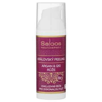 Saloos Královský peeling Argan & Q10, Růže 50 ml