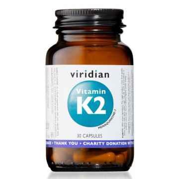 Viridian Vitamín K2, kapsle 30 ks