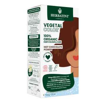 HERBATINT VEGETAL COLOUR Bio rostlinná barva na vlasy HOT CHOCOLATE POWER 100 g