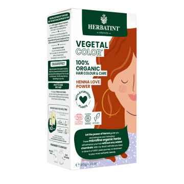 HERBATINT VEGETAL COLOUR Bio rostlinná barva na vlasy HENNA LOVE POWER 100 g