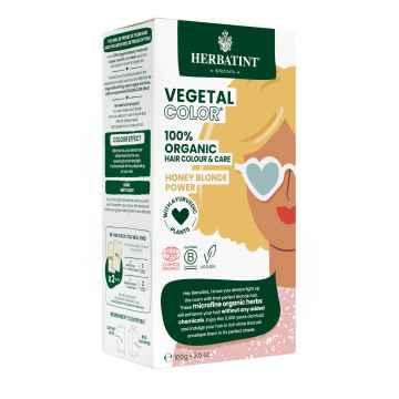 HERBATINT VEGETAL COLOUR Bio rostlinná barva na vlasy HONEY BLOND POWER 100 g