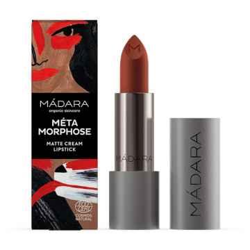 MÁDARA MÉTAMORPHOSE Matte Cream Lipstick, odstín 33 magma 3,8 g