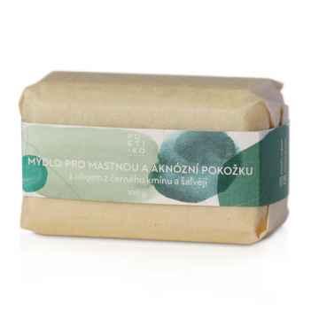 POETIKO Mýdlo pro mastnou a aknózní pokožku s olejem z černého kmínu a šalvějí 100 g