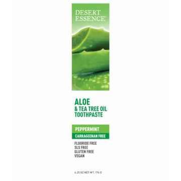 Desert Essence Zubní pasta aloe a tea tree oil 176 g