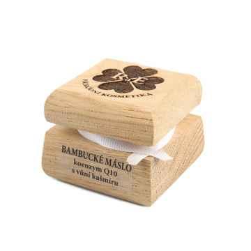 RaE Bambucké máslo koenzym Q10 s vůni kašmíru, Exspirace 12/2021 30 ml, dřevěný obal