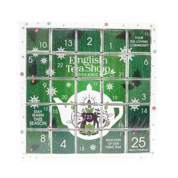 English Tea Shop Zelený adventní kalendář Puzzle 50 g, 25 ks