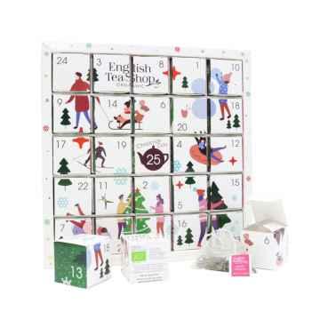 English Tea Shop Bílý adventní kalendář Puzzle 50 g, 25 ks