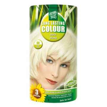 Henna Plus Dlouhotrvající barva Ultra blond zesvětlující 00, Poškozená krabička 140 ml