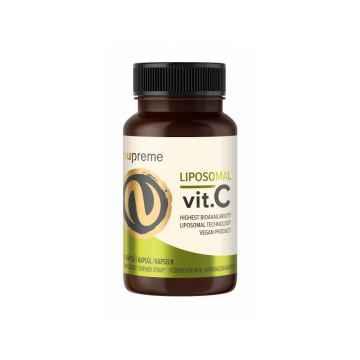 Nupreme Liposomal Vitamín C, kapsle, Poškozeno (prasklé víčko) 30 ks, 21 g