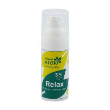 Original ATOK Tělový a masážní oleogel Relax – s 3 % vosku candelilla 50 ml
