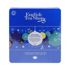 English Tea Shop Vánoční modré ozdoby, plechová kazeta 108 g, 72 ks