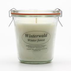 Kerzenfarm Přírodní svíčka Winter Forest, čiré sklo 8,7 cm