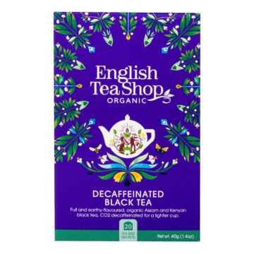 English Tea Shop Černý čaj English Breakfast bez kofeinu, bio 30 g, 20 ks