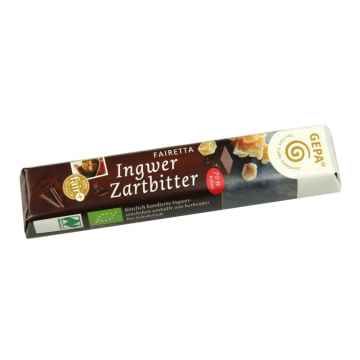 Gepa Čokoláda Bio Fairetta Ingwer Zartbitter 45 g