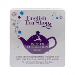 English Tea Shop Vánoční zima, plechová kazeta, bio 108 g, 72 ks