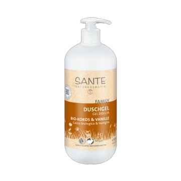 Santé Sprchový gel bio kokos a vanilka, Family 950 ml