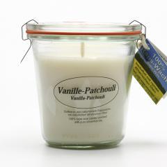 Kerzenfarm Přírodní svíčka Vanilla Patchouli, čiré sklo 8,7 cm