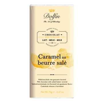 Dolfin Čokoláda mléčná se slaným karamelem 70 g