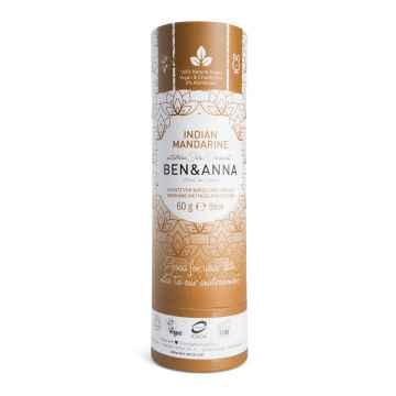 Ben & Anna Tuhý deodorant Indian Mandarine 60 g, papírový obal