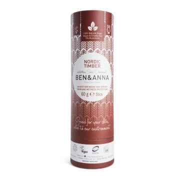 Ben & Anna Tuhý deodorant Nordic Timber 60 g, papírový obal