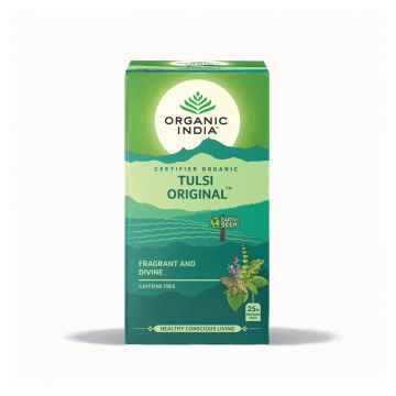 Organic India Čaj Tulsi Original, porcovaný 25 ks, 43,5 g